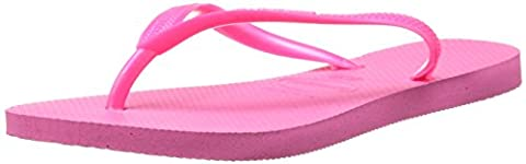 Havaianas Women's Slim Flip Flop, Shocking Pink, 37/38 BR/7-8 M US (Green Flip Flops)