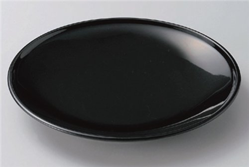 URUSHI-BLACK Jiki Japanese traditional Porcelain Set of 10 Medium Platese made in JAPAN by Watou.asia