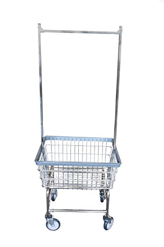 Laundry Cart With Double Pole Rack by R&B Wire Products