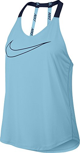 Nike Women's Dry Breathe Elastica Tank - Vivid Sky/Binary Blue - X-Large