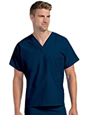 بلوزة لباس طبي قابلة للعكس وعالية الجودة بتصميم قبة V وبجيب واحد من لاندو
