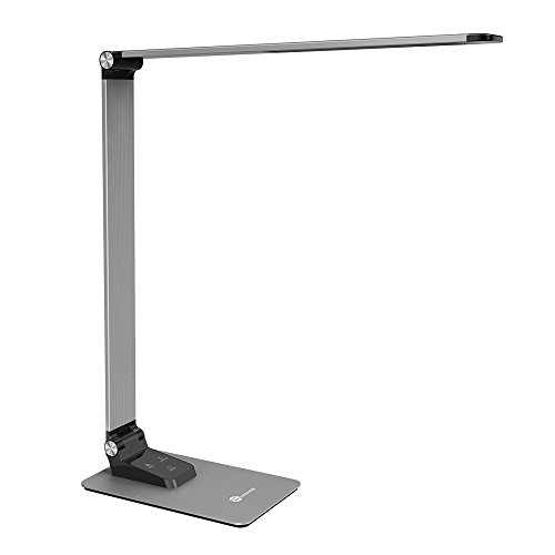 TaoTronics LED Desk Lamp with High-speed 5V/2A USB Charging Port, 3 Color Temperatures and Brightness Levels, Metal Body, Memory Function, 9W
