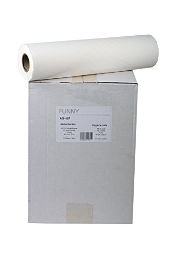 Funny Abdeckrollen aus Zellstoff mit PE Beschichtung 1-lagig, hochweiss, 40 cm, 1er Pack (1 x 12 Stück)