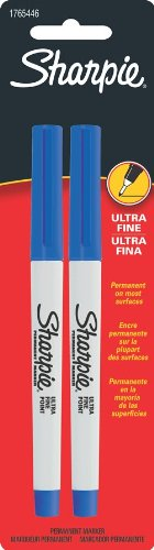 Fine Sanford Point Markers (Sharpie Ultra Fine Point Permanent Markers, 2 Blue Markers (1765446))