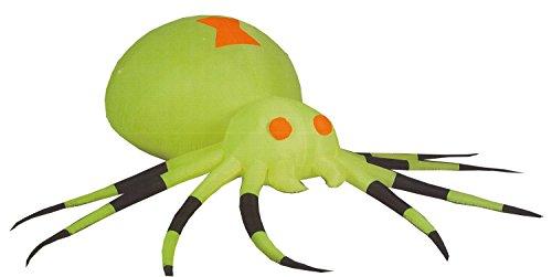 Scariest Halloween Decoration (Gemmy Airblown Inflatable 3.5' X 11.5' Giant Neon Green Spider Halloween Decoration)