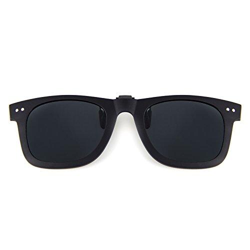 Cyxus Clip On Polarized Sunglasses [Blocking UV] Classic Sun Glasses for Men/Women - On Clip Wayfarer Sunglasses