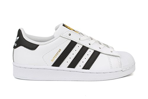 adidas Originals Superstar C Basketball Shoe (Little Kid),White/Black/White,1 M US Little (Adidas 1 Basketball)