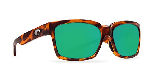 Costa Del Mar Playa 580P Playa, Honey Tortoise Frame Green Mirror, Green - Costa Playa Sunglasses