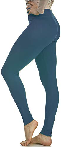 LMB Extra Soft Leggings with High Yoga Waist - Jade OS ()