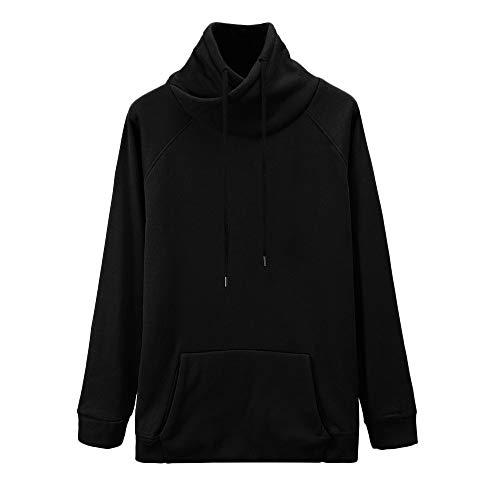 HYIRI Pocket Hooded Sweatshirt Top,Mens Autumn Winter Long Sleeve Blouse T Shirt