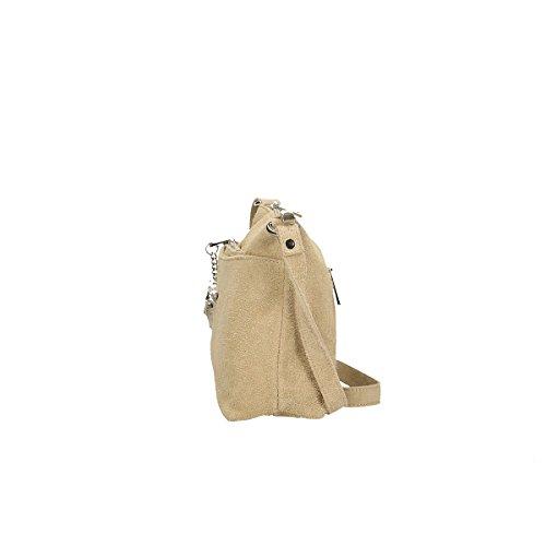 Chicca Borse Piel genuina bolso 29x17x8 Cm barro