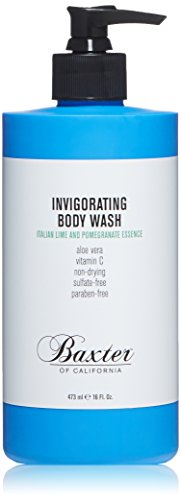 Baxter of California Invigorating Body Wash, Italian Lime & Pomegranate, 16 oz. (Invigorating Gel)