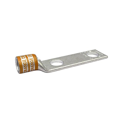 Huya UL Listed LB303801P-261 Two Hole Flex Conductor Long Barrel with Inspection Window, 450/24, 3/0 Weld, 3/0 AWG Conductor, 3/8