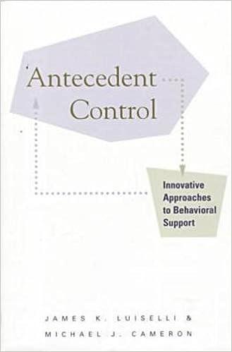 amazon antecedent control innovative approaches to behavioral