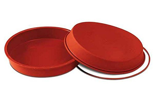 Silikomart SFT120/C 8-Inch Silicone Classic Collection Cake Pan, Round by Silikomart