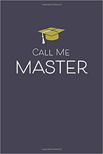 com call me master lined journal funny graduation gag