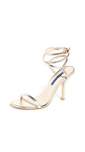 Stuart Weitzman Women's Merinda Sandals, Platino, Gold, Metallic, 7.5 M US