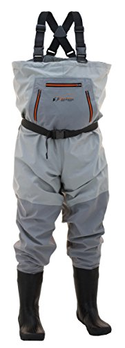 Frogg Toggs Hellbender Breathable Bootfoot Chest Wader, Felt Outsole, Slate Gray, Size 11