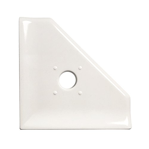 Bathroom Shower Corner Shelf 5 inch Soap Dish - Questech Mounted Corner Soap Dish - Polished ()