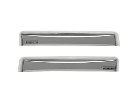 WeatherTech Custom Fit Rear Side Window Deflectors for Ford F-Series Crew Cab, Light Smoke