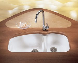 Franke : VNK12037MB 38 Fireclay Double Bowl Undermount Sink ()
