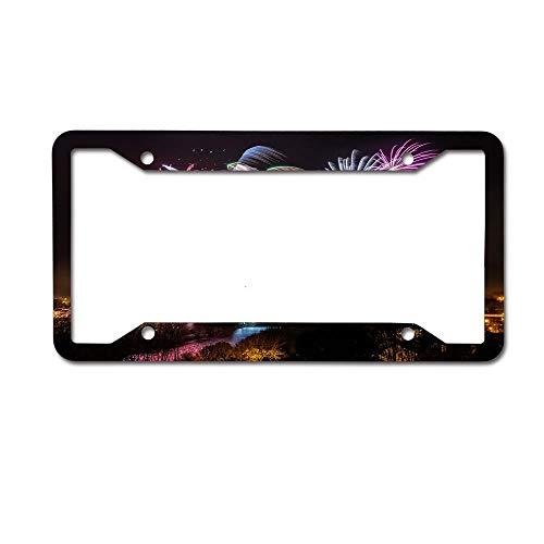 (Strabane Halloween Fireworks Display 2017 Decorative Auto Car Tag Novelty License Plate Frame 4)