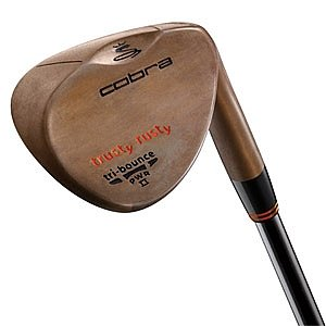 Cobra Trusty Rusty Wedge (Men's Left-Handed, 55 Degree Loft, Rust, True Temper Dynamic Gold S200 Steel Shaft with Non-Glare Coating, Wedge Flex)