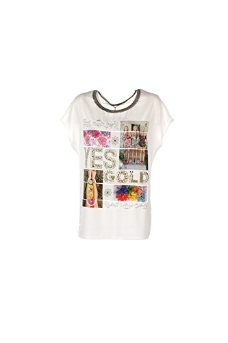 T-shirt Donna Yes-zee L Bianco T242 C200 Primavera Estate 2017