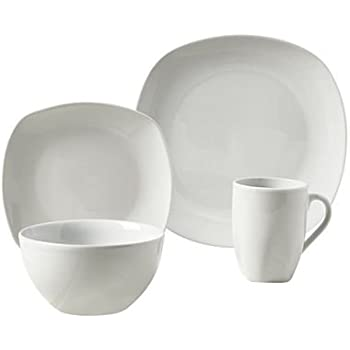 Tabletops Square 16 Piece Dinnerware Set, Service For 4
