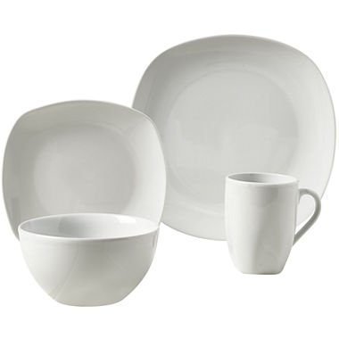 Tabletops Square 16-Piece Dinnerware Set, Service for 4