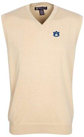 - Oxford Golf NCAA Auburn Tigers Men's Bristol Sweater Vest (Oyster, XX-Large)