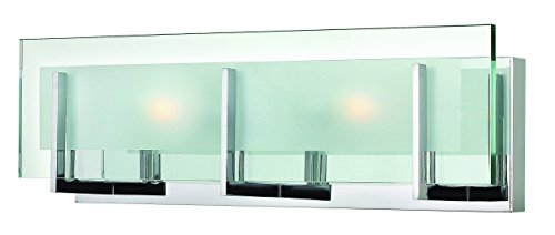 Hinkley 5652CM Contemporary Modern Two Light Bath from Latitude collection in Chrome, Pol. Nckl.finish, (Hinkley Latitude)