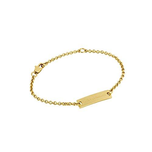 Gold Plated Baby Bracelet Christening Gift For Girls and Keepsake (Baby Bracelet Gold)