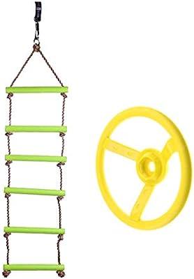 B Blesiya 120kg Escalera de Cuerda Colgante Infantil + Volante de ...