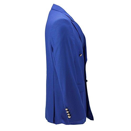 Klassisches Herren-Jackett, Zweireiher, Blauschwarz, mit Goldfarbenen Knöpfen im Vintage-Stil, 4 Farben Gr. Brust 46, königsblau