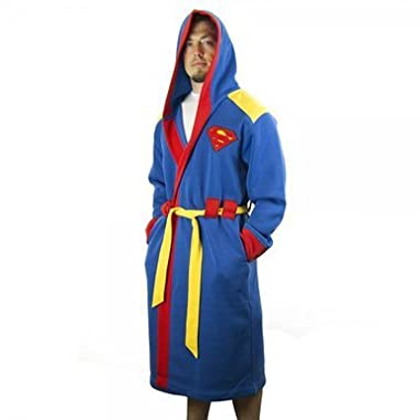 Superman Mens Hooded Robe L/XL
