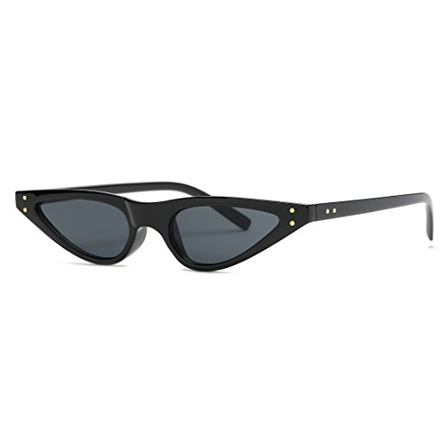 Kimorn Sunglasses For Women Metal Hinges Small Cat Eye Frame Sun Glasses K0578