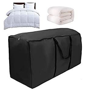Bolsa de almacenamiento grande con asa, bolsa de almacenamiento para muebles de jardín resistente al agua, 116 x 47 x 51 cm