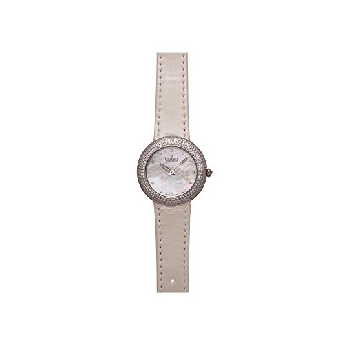 Charmex Las Vegas 6305 35mm Stainless Steel Case White Calfskin Synthetic Sapphire Women's Watch