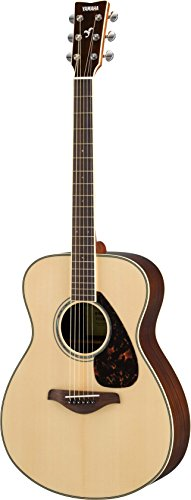 Yamaha FS830 Small Body Solid Top Acoustic Guitar, - Solid Guitar