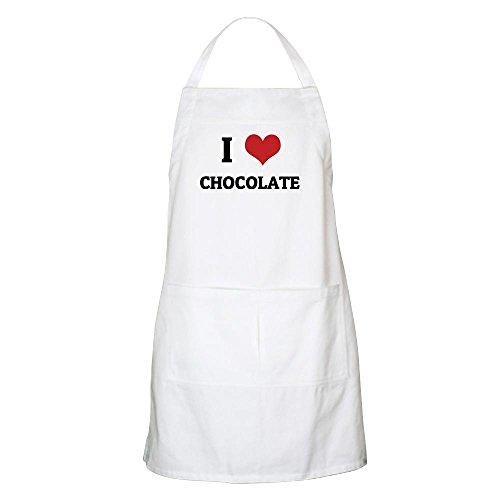 CafePress - I Love Chocolate BBQ Apron - Kitchen Apron with Pockets, Grilling Apron, Baking Apron