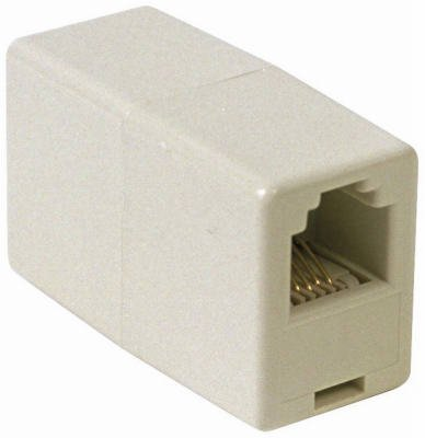 Rca Tp262n In-line Phone Cord Coupler, Ivory (Pack Of 6)