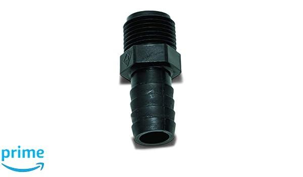 Valterra RF842 3//8 Male Pipe Thread x 1//2 Barb Elbow Fitting