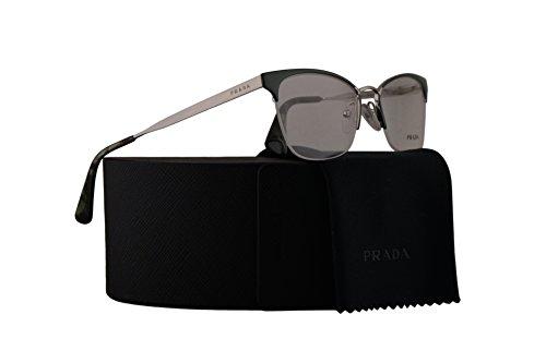 Prada PR65QV Eyeglasses 51-17-140 Green Silver w/Demo Clear Lens UEI1O1 VPR65Q VPR 65Q PR - Prada Spectacles