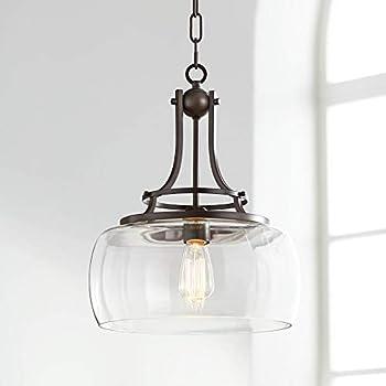 Charleston Rustic Farmhouse Ceiling Light Semi Flush Mount Fixture Led Edison Bronze 13 1 2
