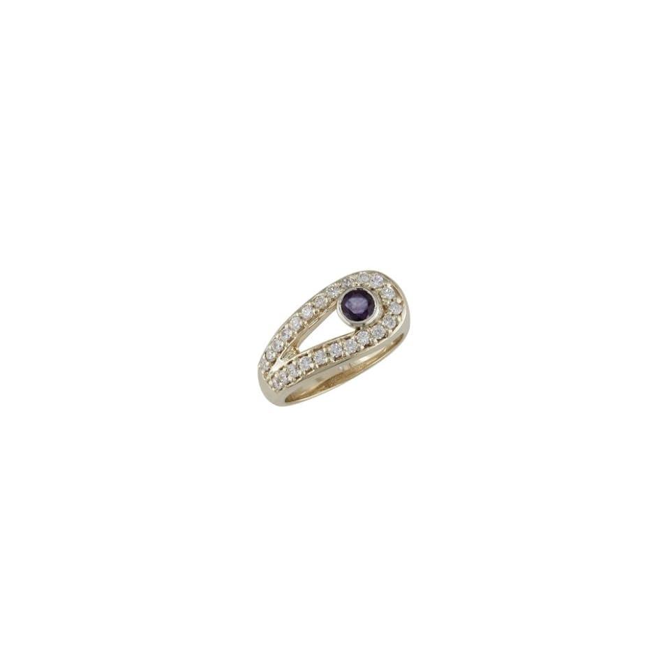 Azena 14K Yellow Gold Sapphire & Diamond Ring Jewelry