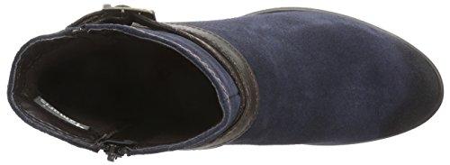 Tamaris 25010 - botas de cuero mujer multicolor - Mehrfarbig (Navy/Espresso 832)