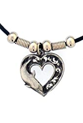 Earth Spirit Dolphin Heart Necklace Pendant Western Jewelry