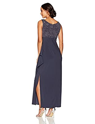 Alex Evenings Women's Petite Long Side Ruched Dress with Bolero Jacket
