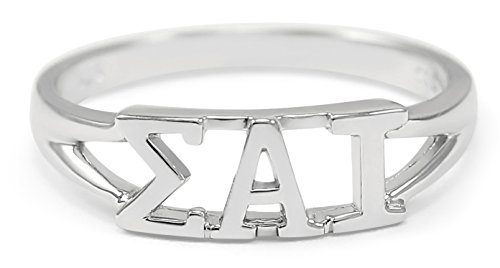 Sigma Alpha Iota Music Fraternity Sterling Silver Sorority Ring with Greek letters